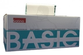 Handtuchpapier, 1-lg., lindgrün 25x23 Standard ZickZack (ZZ) V-Falz, Recycling 40g/m²