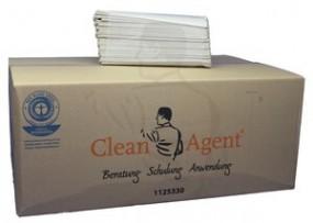 Handtuchpapier Recycling, 1-lg., weiss, 25x33 C-Falz (Lagenfalz), geprägt, 40g/m² mit Ecolabel
