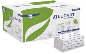 Handtuchpapier, 2-lg., 25x23, hochweiß V Falz (ZickZack) geprägt, 2x18 g/m² Eco V