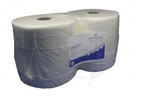 Jumbo-Toilettenpapier, MaxiRolle 2lg. H6,5/D26cm hochweiß, Zellstoff, saugstark, verleimt 9,5x24cm