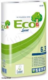 Toilettenpapier, 3-lg., hochweiß, 250 Bl Blatt 9,8x11,5cm geblümt -Kleinrolle-