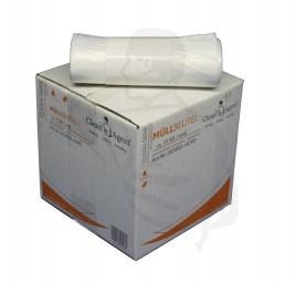 Müllbeutel, HDPE, 630x850, Hostess (70-90 L) weiss, extra reiß- und schnittfest, ca 10mµ