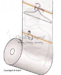 Schlauchfolie, Abrisshüllen, 120cm lang hochtransparent, 15µm, 60cm breit, 500er