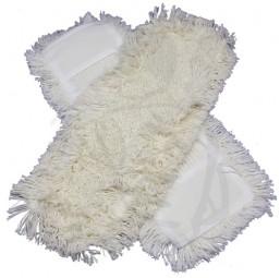Bezüge getuftet, weiss, Schlinge/Franse 40 cm Baumwolle/Polyester
