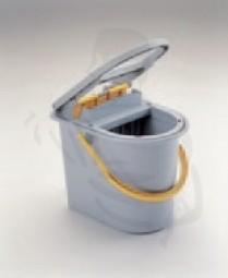 Vermop Wringboy, grau, 15 Liter aus Kunststoff mit fest integrierter gelber Presse