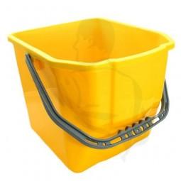 Plastikeimer Ersatz, GELB, 17 Liter mit Kunststoffhenkel, rechteckig