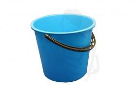 Plastikeimer mit Kunststoffbügel,10 L runde Ausführung mit Maßeinteilung blau