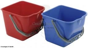 Plastikeimer Ersatz, BLAU, 17 Liter mit Kunststoffhenkel, rechteckig