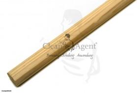 Holzstiel ohne Gewinde unlackiert, 1,40 m aus geschliffenen Holz, Brasilkiefer, D24 mm