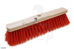 Besen Elaston/Eralon 1-loch, 40 cm mit roter kurzer Borste 7cm, Sattelholz