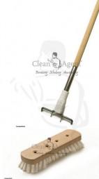 Beco Wischer/Schrubber mit Holzkörper, 22 cm mit Bart PPN Perlon und Beco Holzstiel 1,40m SET