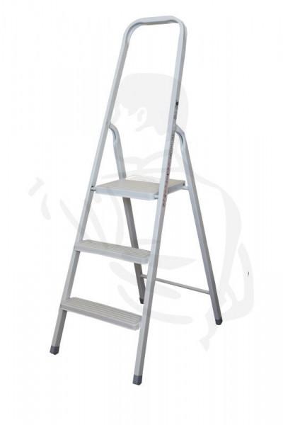 klappleiter tritt 3 stufen 61cm belastbar bis 150 kg einseitig begehbar stufen. Black Bedroom Furniture Sets. Home Design Ideas