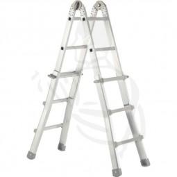 Mehrzweckleiter Alu 4x3 Stufen 3,10m (1,05m) verwendbar als Anlegeleiter und Stufenleiter