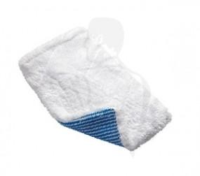 Reinigungs- u. Fleckenhandschuh für Textilien mit blauer Borstenseite, Microfaser 22x16x13cm, weiß