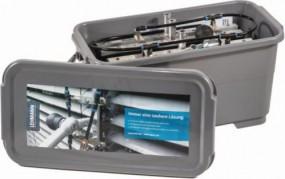 Lamellenreiniger mit 4 verschieden Bürsten Lamellenbürstenträger in Box mit Deckel - Set-