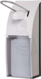 Desinfektionsmittelspender 500 ml aus weißem Kunststoff mit Hebel (weiss)