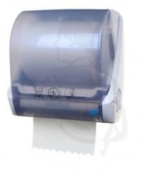 Handtuchrollenspender Kunstoff weiß/blau mit Autocut (automatischer Abschnitt) bis 25cm