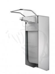 Desinfektionsmittelspender aus Aluminium, 1 Liter mit kurzem Armhebel und Edelstahlpumpe