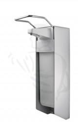 Desinfektionsmittelspender aus Aluminium, 500ml mit kurzem Armhebel und Edelstahlpumpe