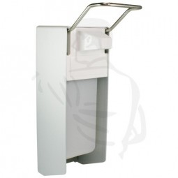 Desinfektionsmittelspender aus Aluminium, 500ml mit langem Armhebel und Edelstahlpumpe
