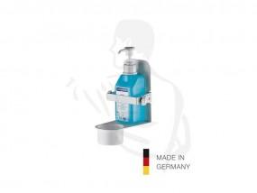 Desinfektionsmittel Wandhalter metall weiss ideal für Pumpflaschen oder Euroflaschen 500ml/1L
