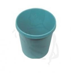 Papierkorb grün, 31x31x32 cm geschlossen aus Kunststoff, mit Grifffrand- rund -