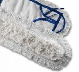 Feuchtwischbezüge mit Taschen, 40 cm Baumwolle/Polyestergemisch, Schlinge/Franse