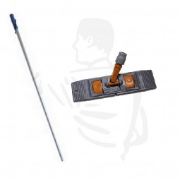 Wischset 50cm bestehend aus: Klapphalter Magnet 50cm + Aluminiumstiel 1,40m