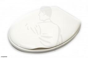 WC-Sitz Kunststoff aus Polypropylen weiß mit Deckel Standard Ausführung