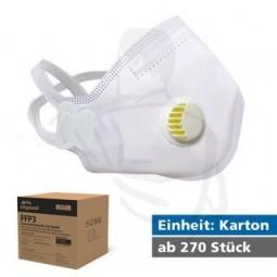 Filtrierende Staubmaske mit Ventil FFP3 gegen gifte, feste und flüssige Partikel CE2834