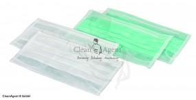 Einwegmundschutz aus PP-Vlies 2lg (50er) mit runden Elastikbändern und Nasenbügel