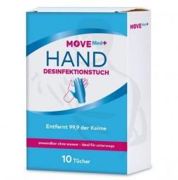 Handdesinfektionstücher, 10er Pack praktischen Größe ideal für unterwegs