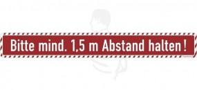 Bodenmarkierung mit Antirutschbelag 64x8cm Aufdruck: