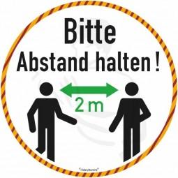 Bodenmarkierung mit Antirutschbelag Ø24cm Aufdruck: