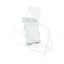 Trennwand/Spuckschutz 65x70cm transparente, stabile 4mm Acrylglasscheibe