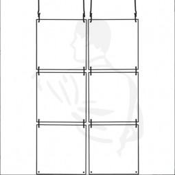 Trennwand modular, 4er Set 40x40 cm transparenter Nies- und Spuckschutz