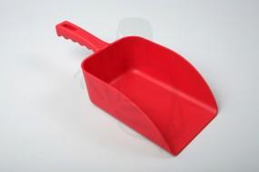 Streugutschaufel Kunststoff, rot 31x11x0,55 MIT HOHEN KANTEN