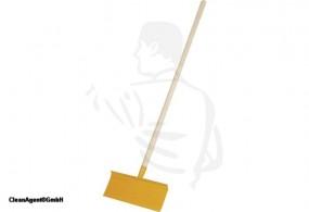 Stossscharre mit Federstahl 1mm, 33x16 cm mir Hartholzstiel, feingeschliffen 1,20m