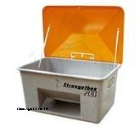 Streugutbehälter mit Entnahme 350 Liter Behälter sind absolut korrossions-